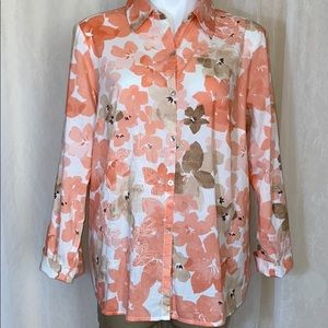 Jh collectibles button down blouse peach colored